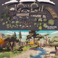 Download Cgtrader - POLYGON - Nature Pack Low-poly 3D model Free