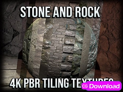 Download Stone and Rock 4K PBR Tiling Textures Free