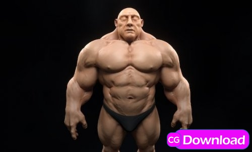 Download  Musclehead 3D model Free