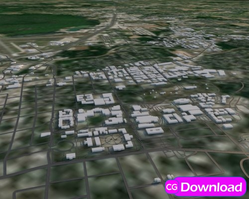Download  Turbosquid – Louisiana Map 3d model Free