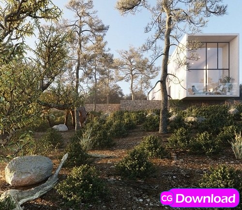 Download  Exterior House Scene By Pham Minh Quang Free