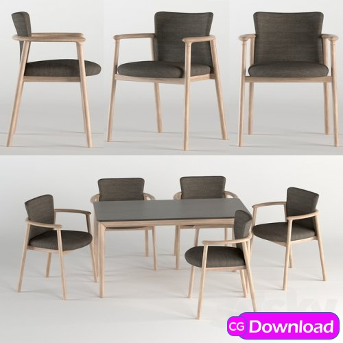 Download  Bellevue Table & Lord Chair by Very Wood Free