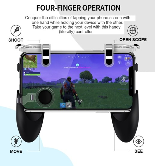 Integrated Handheld Mobile Game Controller 11