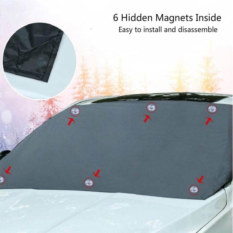 Windshield Snow Cover Sunshade Magnetic Universal 2
