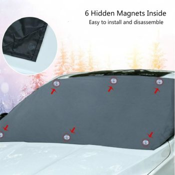 Windshield Snow Cover Sunshade Magnetic Universal 8