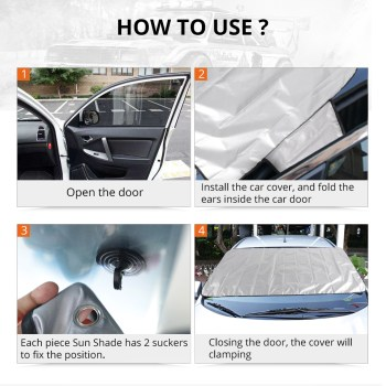 Windshield Snow Cover Sunshade Magnetic Universal 18