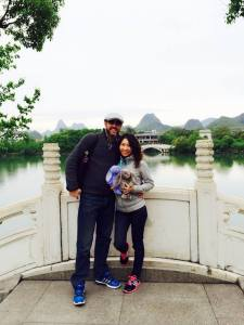 CG Fewston and Yu in Guilin - April 2015