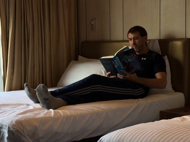 CG FEWSTON reading Death's Endin Hong Kong at Noah's Ark Resort (2016)