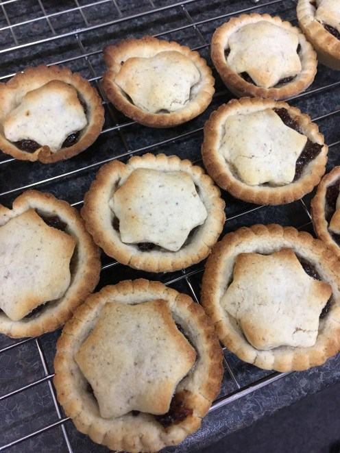 Mince pies made with gluten free wholemeal flour mix