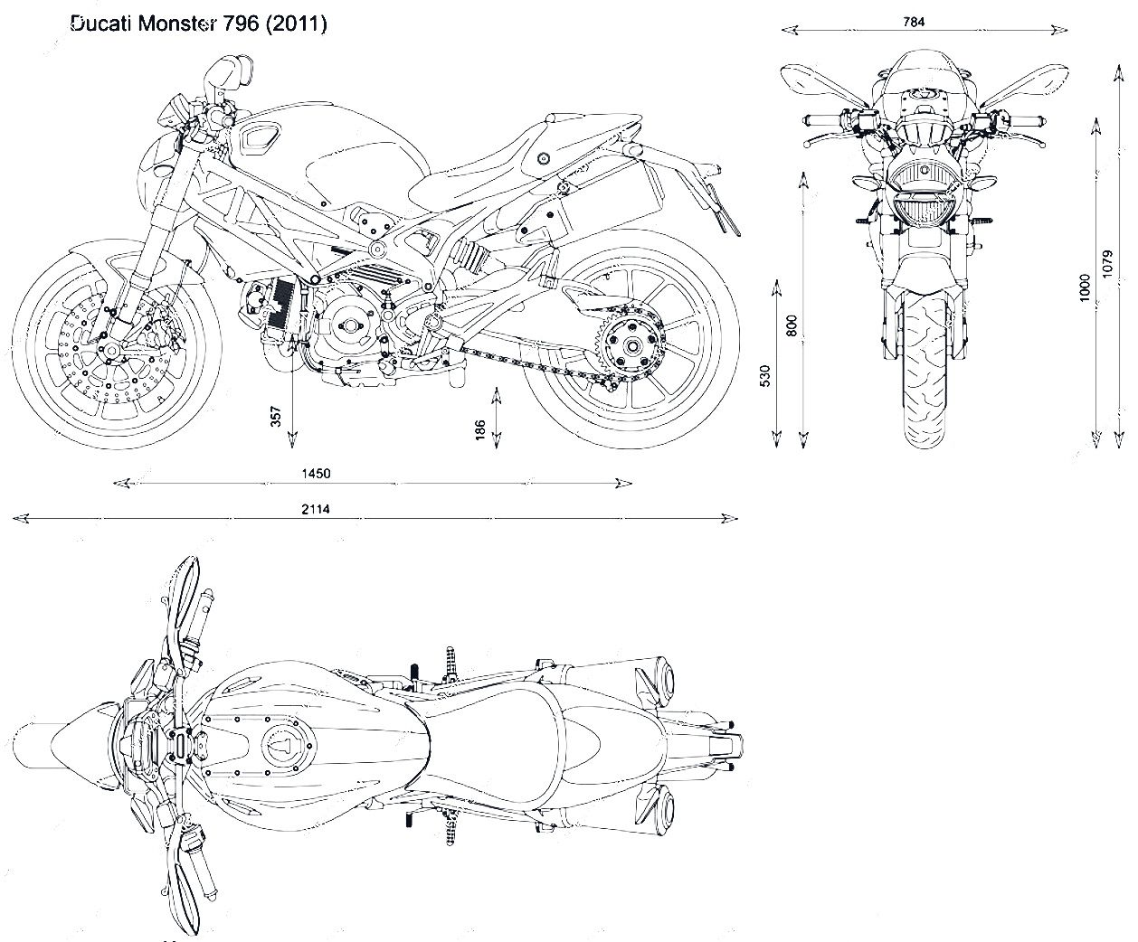 Motorcycle Bike Blueprints For 3d Modeling
