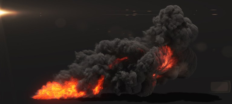 Creating small scale fire and smoke with the help of FumeFX