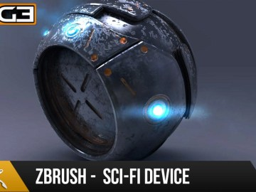 Zbrush 4R7 Tutorial - Hard Surface Techniques - Sci-Fi Device