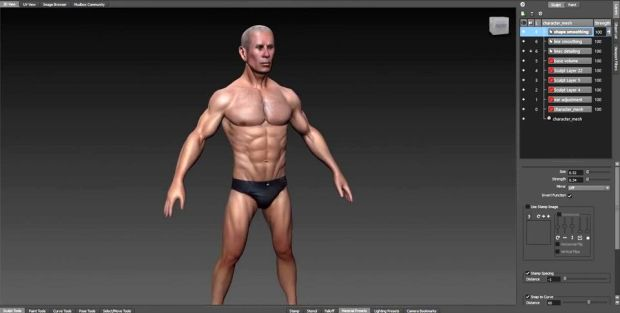 Bodybuilder Character Sculpting in Mudbox