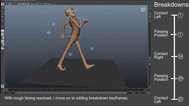 Character Walk Cycle in Maya