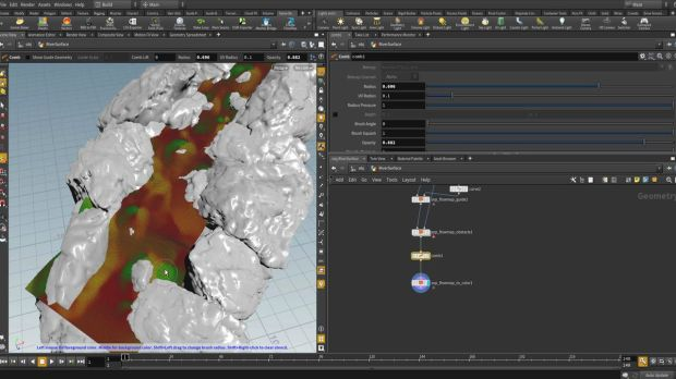 Create a Flowmap Using the New Flow Map Tools in Houdini