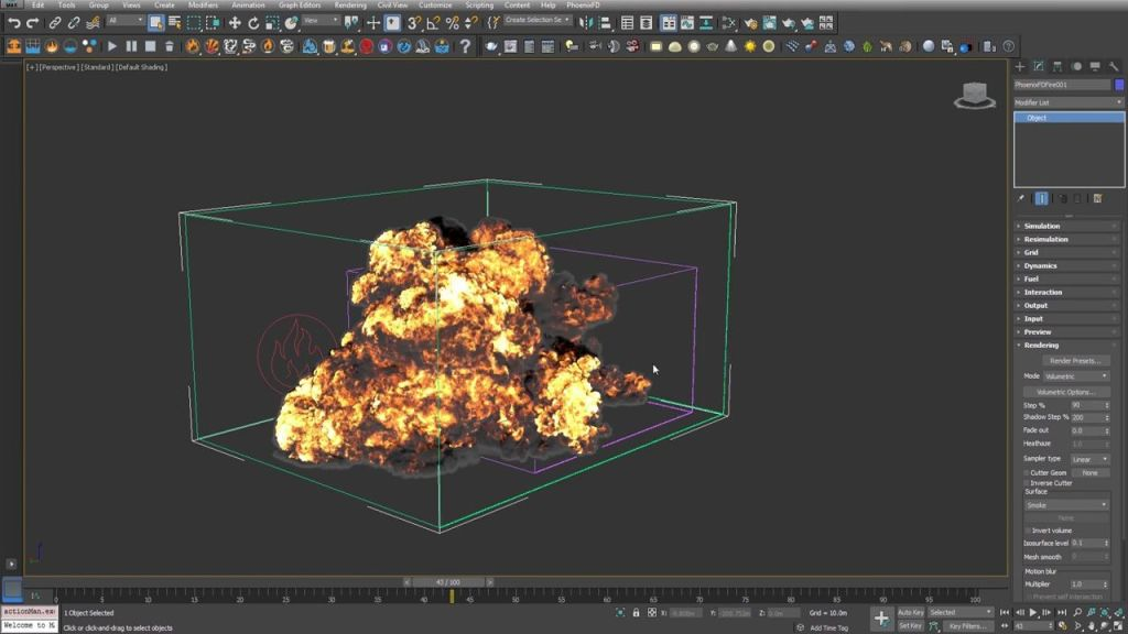 Creating A Gasoline Explosion Simulation in Phoenix FD for 3ds Max