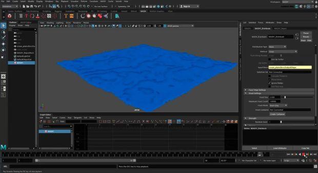 Creating MASH Effects: Blocky Ocean in Maya
