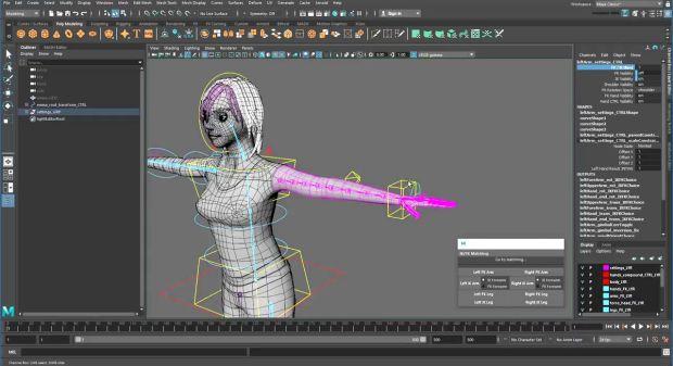 Creating a Character Rig: Appendix D – Freezing IK Controls in Maya