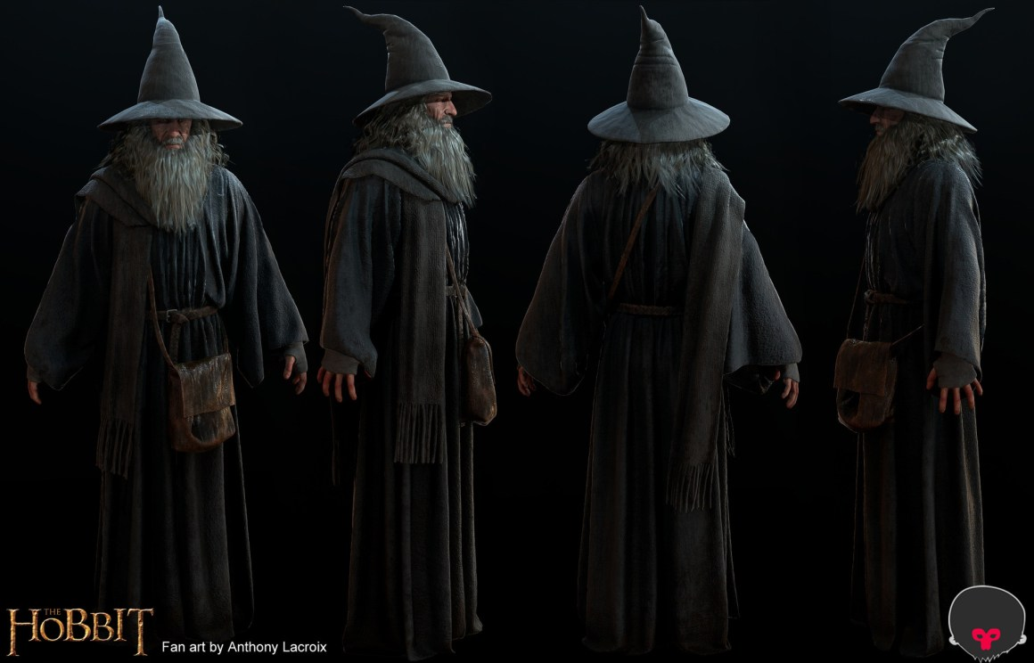 Fan Art Realtime Gandalf by Anthony Lacroix