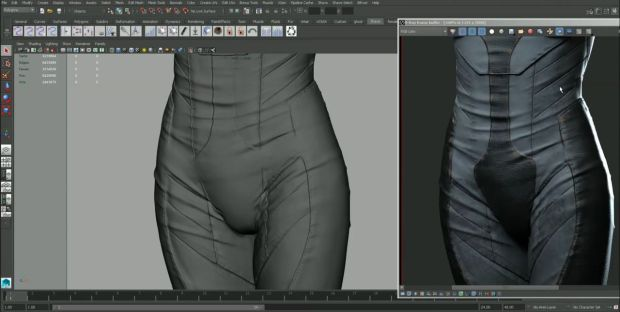Making of Ghost in the Shell Character in Mudbox by Dan Roarty