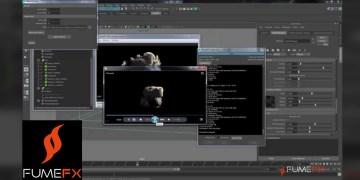 Maya Explosion Tutorial using FumeFX