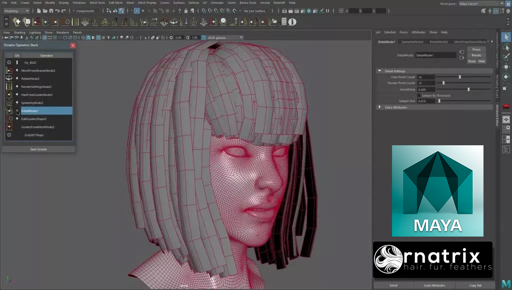 Modeling and UVs Hair for Games | CGHOW