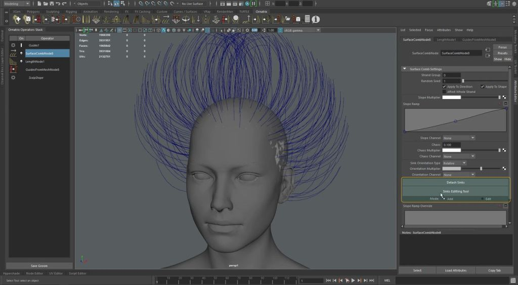 Ornatrix for Maya: Creating a Curly Hairstyle