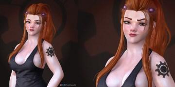 Brigitte Lindholm from Overwatch fanart by Ivan Shevchyk