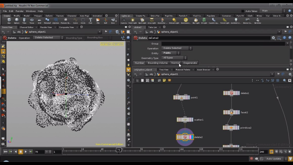 Disintegrating in Houdini tutorial by Rohan Dalvi