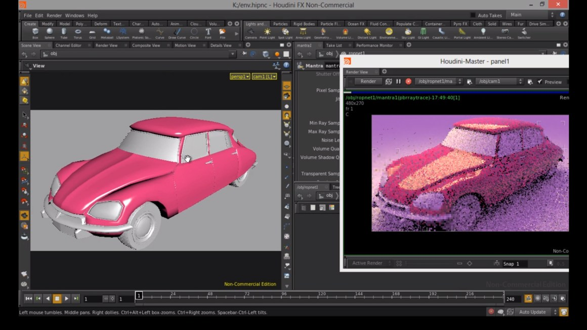 Lights, HDR, render settings, etc. in Houdini by Rohan Dalvi