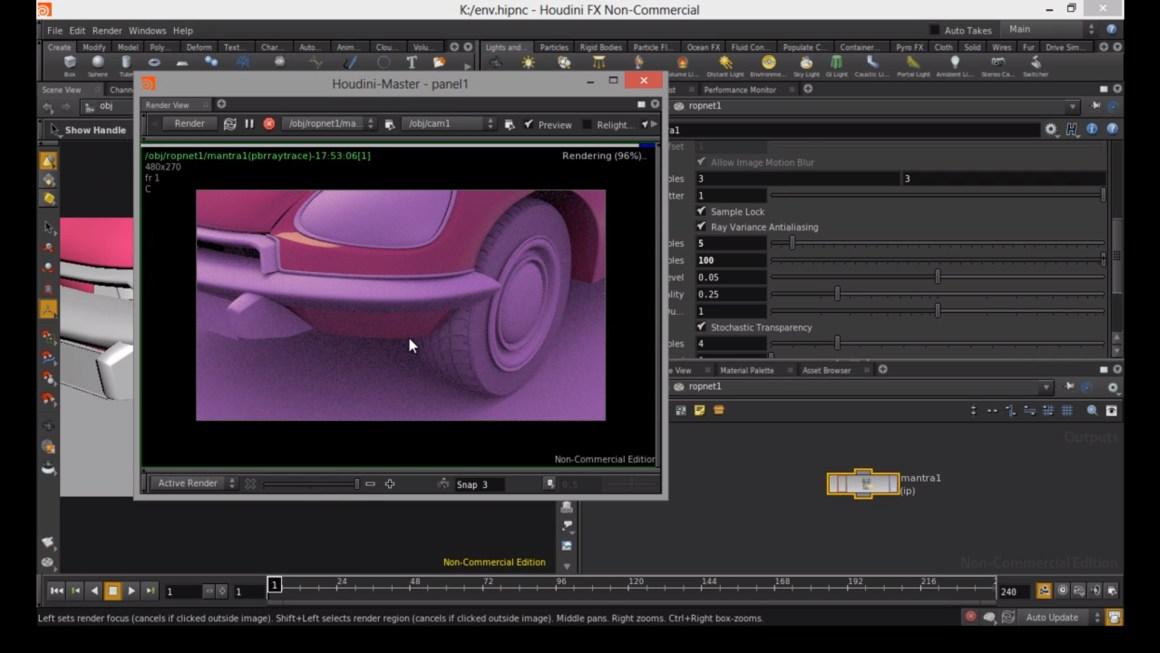 Lights, HDR, render settings, etc. in Houdini by Rohan Dalvi