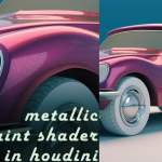 Metallic car paint in Houdini by Rohan Dalvi
