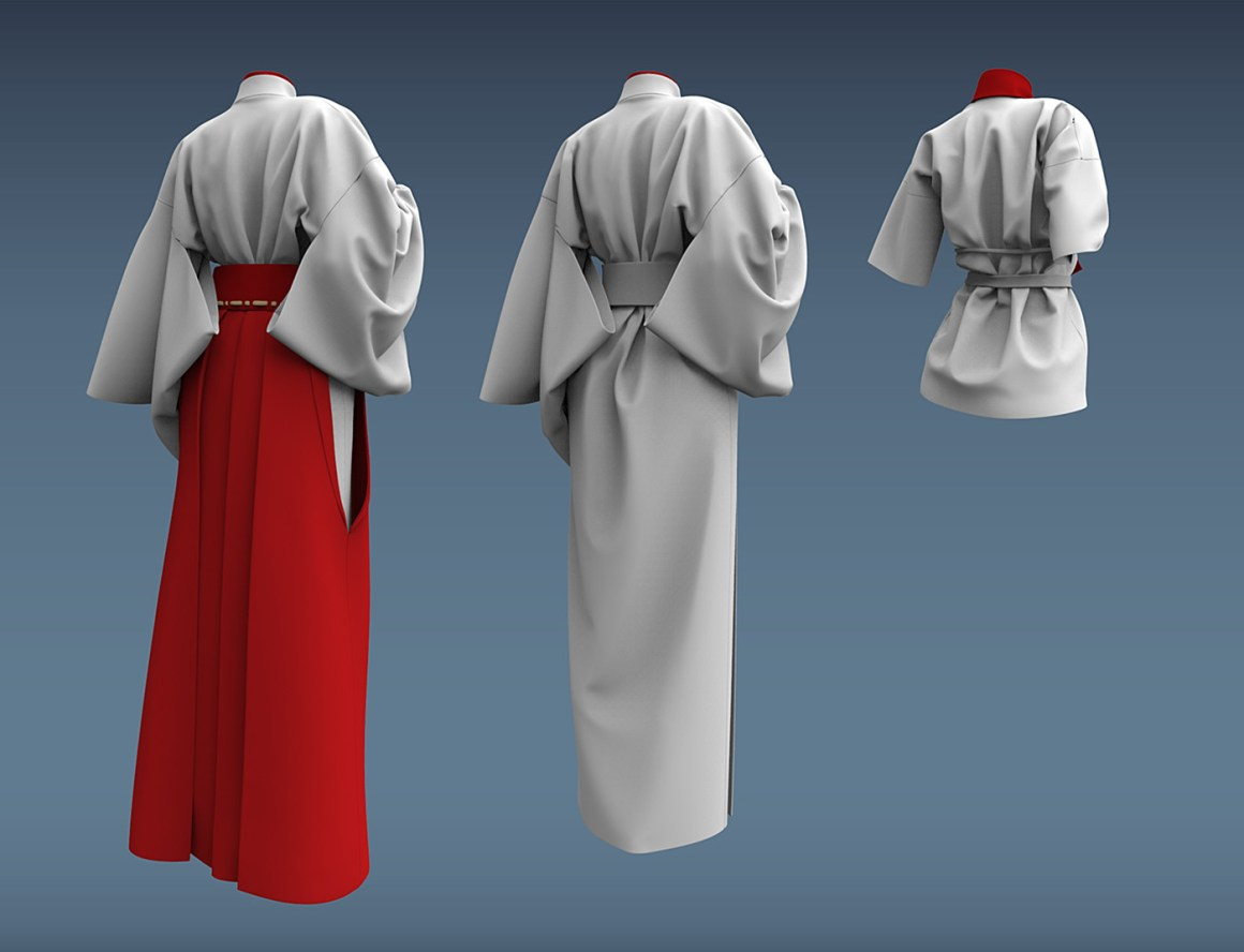 Miko's Attire with Manga Shader by Daniel Solovev