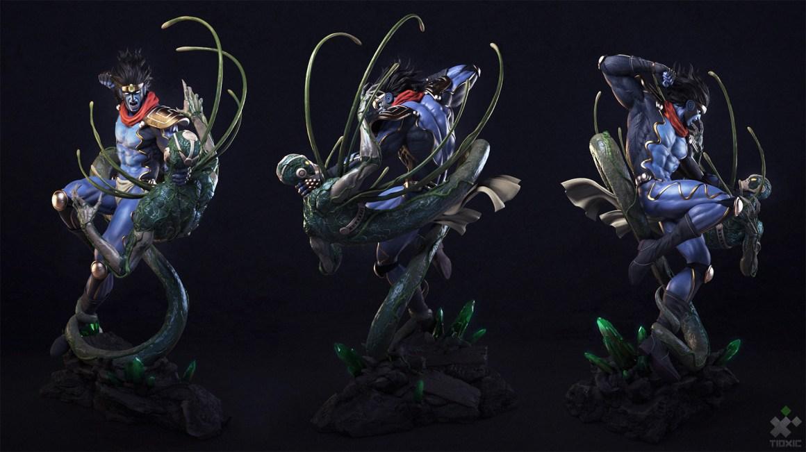 Star Platinum vs Hierophant Green by Wandah Kurniawan