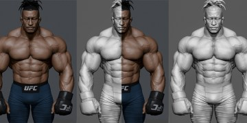 UFC Fighter - WIP by Omid Moradi