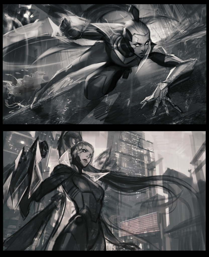 Project Vayne splash for League of Legends by Chengwei Pan