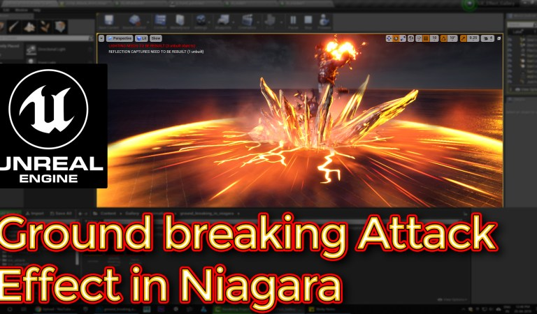 Unreal Engine Breaking Ground Attack Effect in Niagara Tutorial