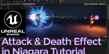 Unreal Engine Attack and Death Effect in Niagara tutorial