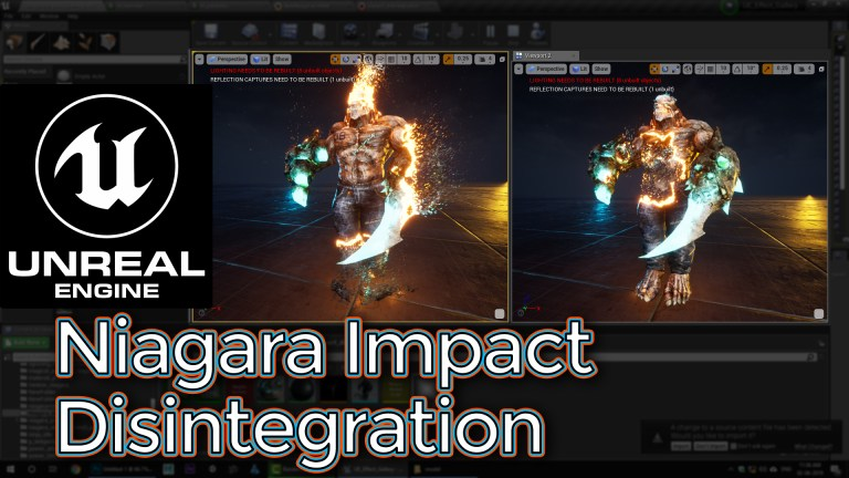 Unreal Engine Niagara Impact Disintegration Tutorial