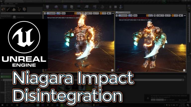 Unreal Engine Niagara Impact Disintegration Tutorial