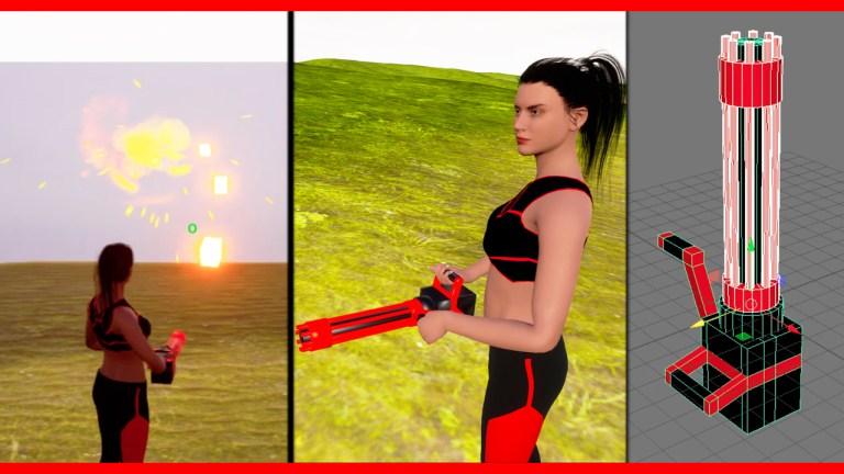 Mini Machine Gun For Unreal Engine 4 | CGHOW