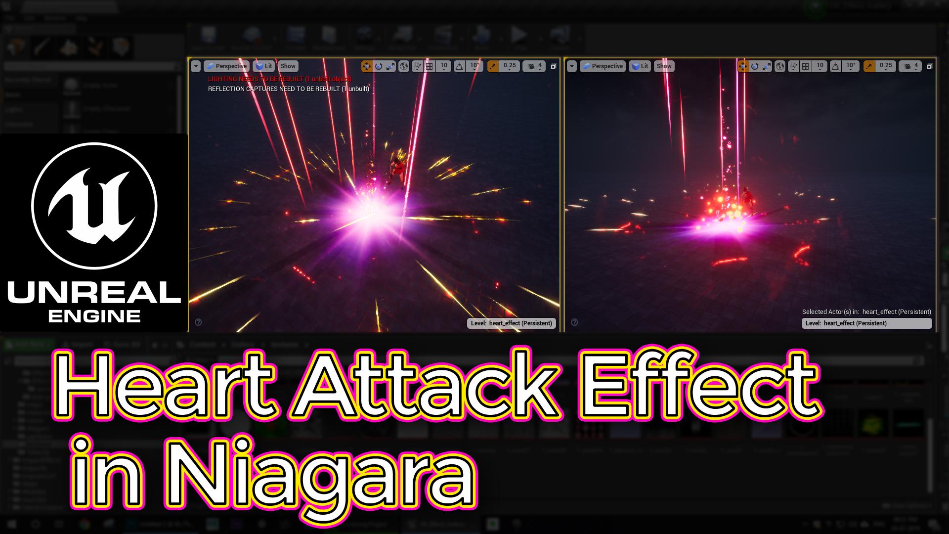 Unreal Engine Heart Attack Effect in Niagara Tutorial