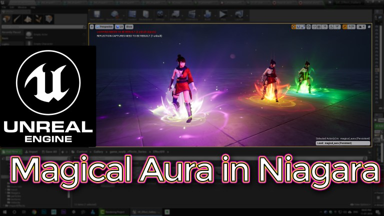 Unreal Engine Magical Aura Effect in Niagara Tutorial