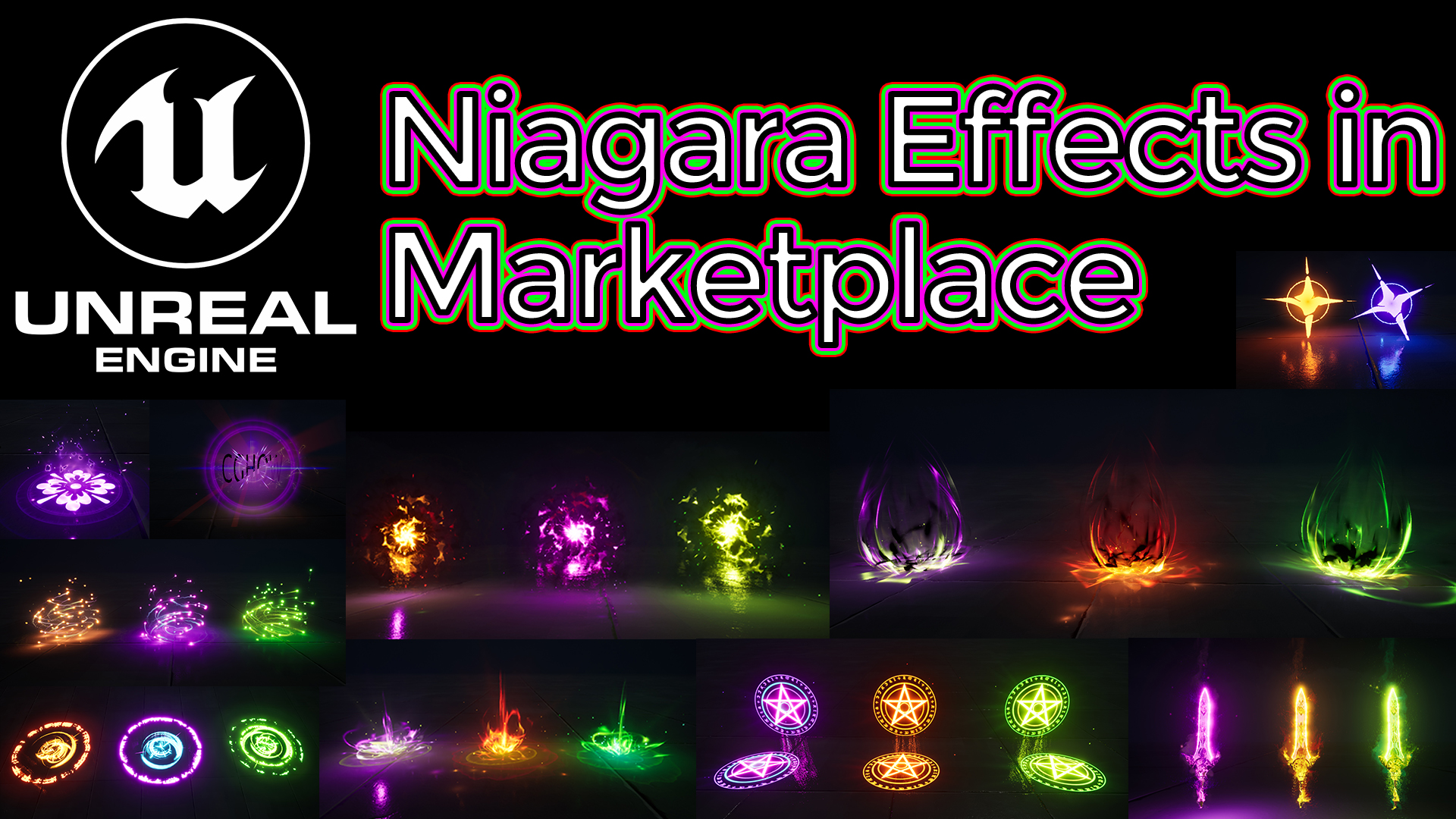 Unreal Engine Niagara Effects in Marketplace