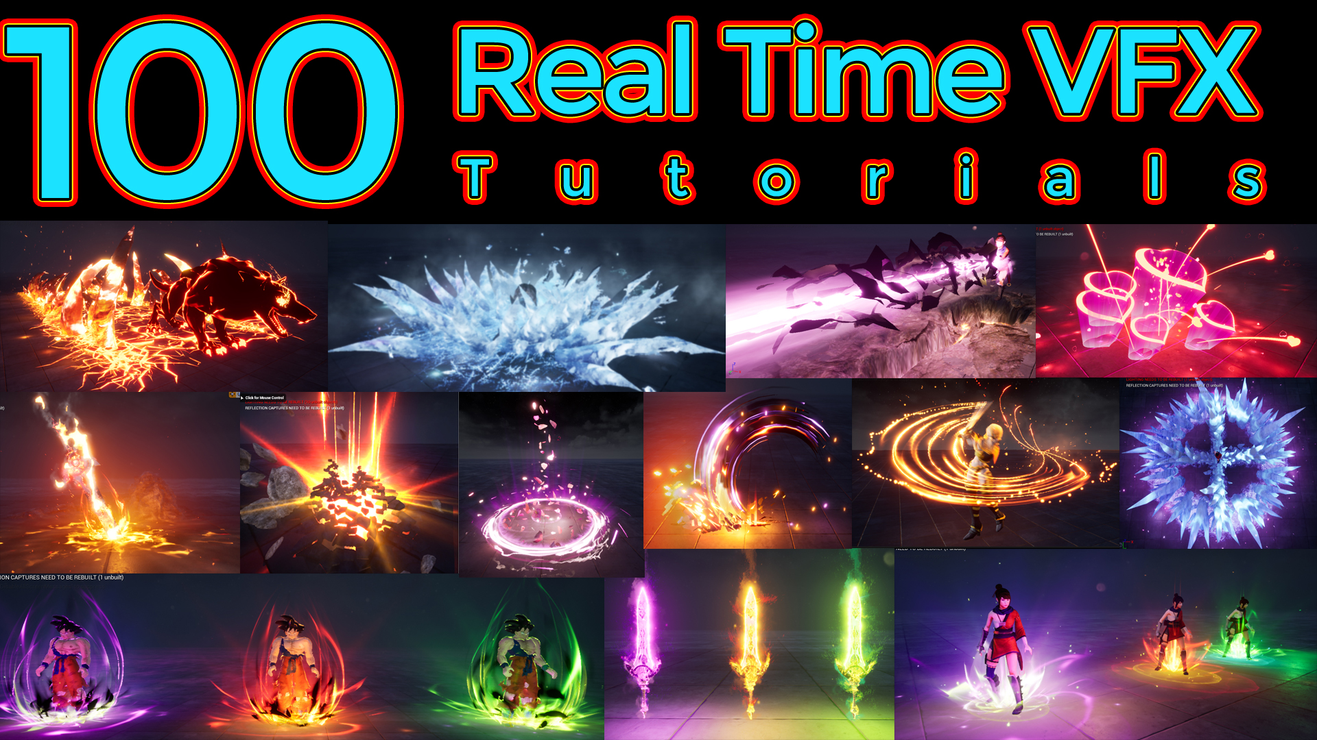 100 Real Time VFX Tutorials | CGHOW