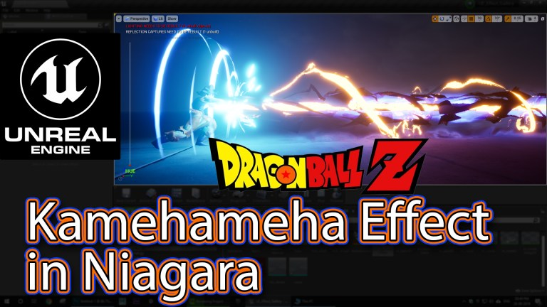 """Kamehameha"" Effect From Dragon Ball in UE4 Niagara Tutorials 