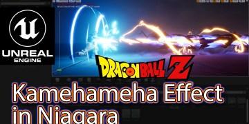 """Kamehameha"" Effect From Dragon Ball in UE4 Niagara Tutorials   亀亀仙せん人にんのかめはめ波   Requested  "