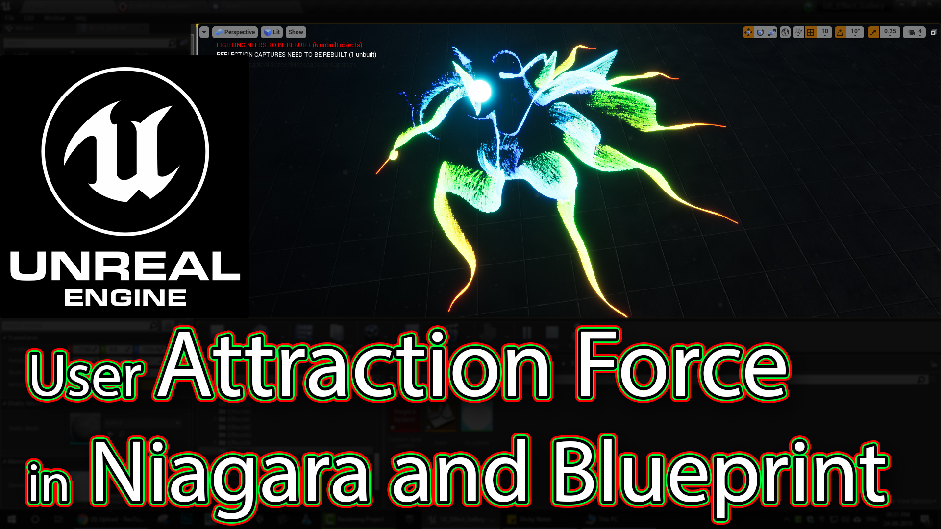 User Attraction Force with Niagara Variable in Blueprint | UE4 Tutorials