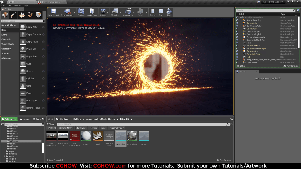 Doctor Strange Portal Effect in Unreal Engine Niagara Tutorial