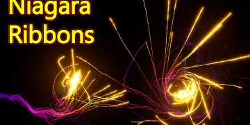 UE4 Niagara Ribbons Effect Tutorial